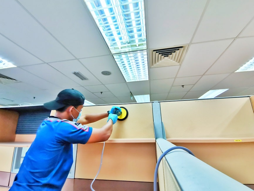 office partition cleaning
